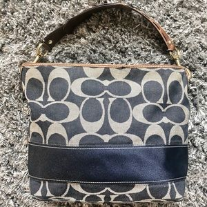Coach Signature Stripe Purse